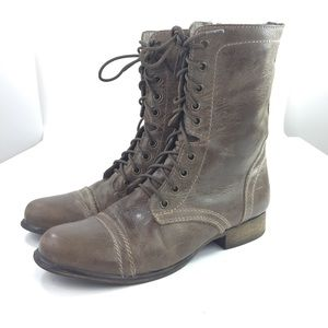 Steve Madden 9 Troopa 906 Stone  Combat Boots